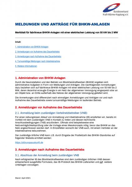 PDF Merkblatt Meldungen BHKW zum Download
