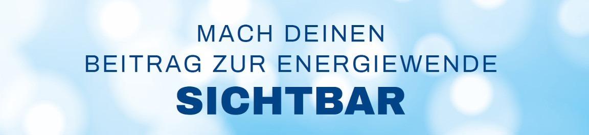Blaue Energie: Mach deinen beitrag zur Energiewende sichtbar!