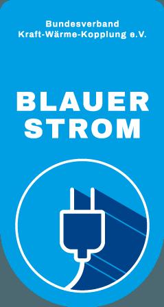 Blauer Strom: Zertifikat des B.KWK für effizienten KWK-Strom