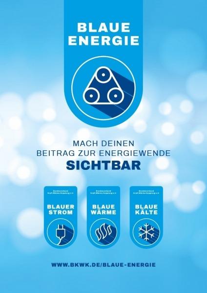 Blaue Energie Broschüre: Informationen zur Beantragung von Blauem Strom, Blauer Wärme und Blauer Kälte